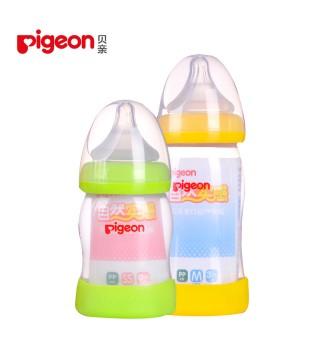 贝亲PP奶瓶新生婴儿宝宝宽口径塑料奶瓶防摔 160/240ml